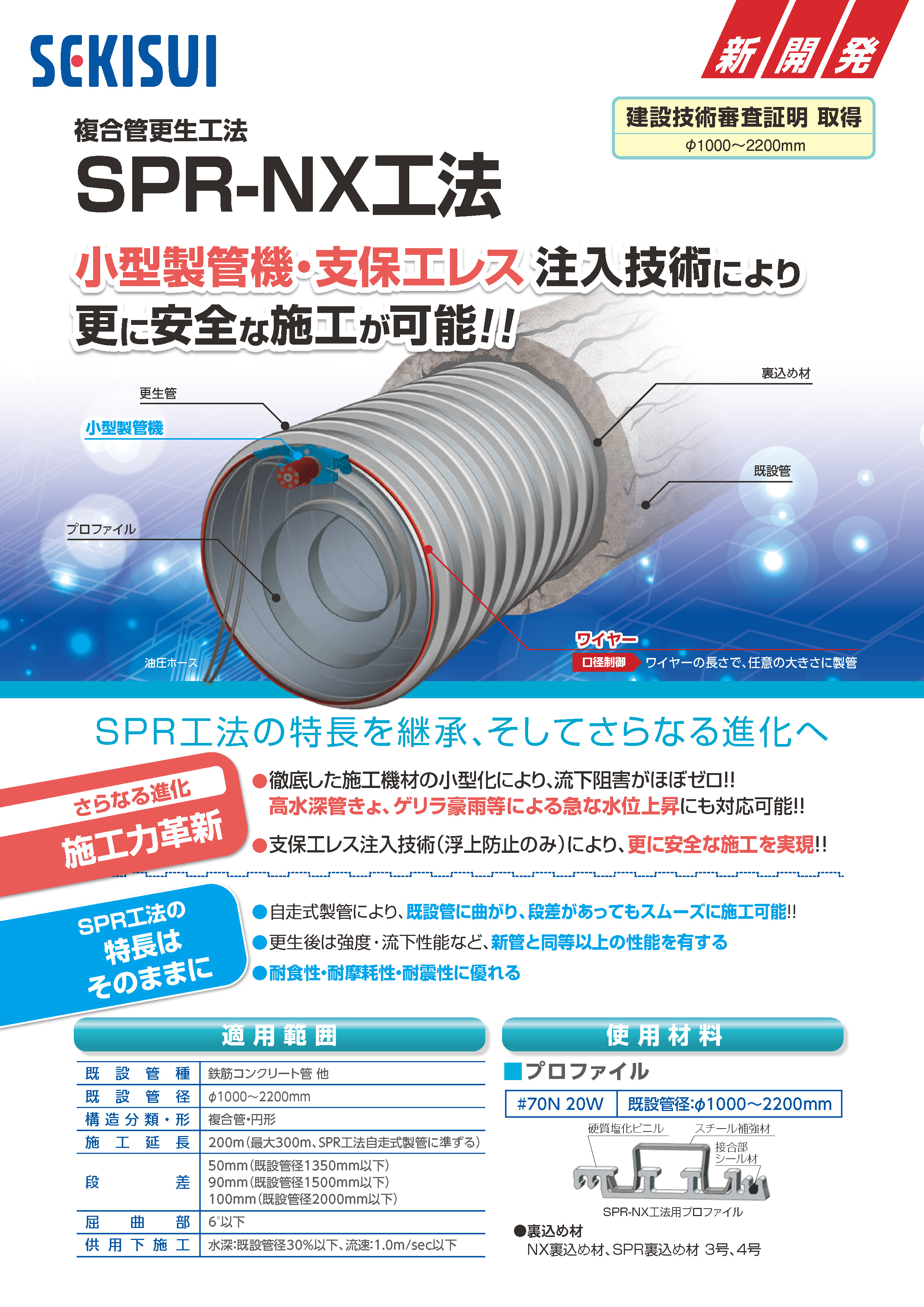 WEB下水道展-管路長寿命化-SPR-NX工法-リーフPDF