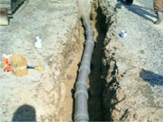 1管セパレート曲線部の施工