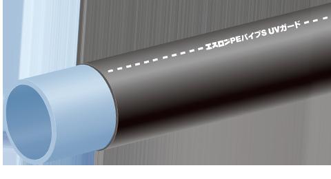 屋外配管用エスロンPEパイプS  UVガードの画像