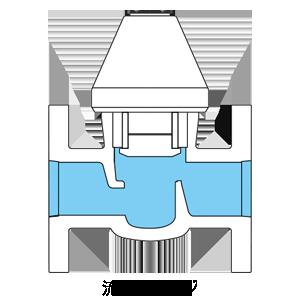 ストップバルブの流路イメージ