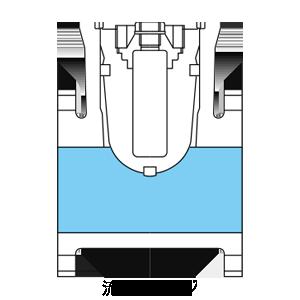 ゲートバルブの流路イメージ